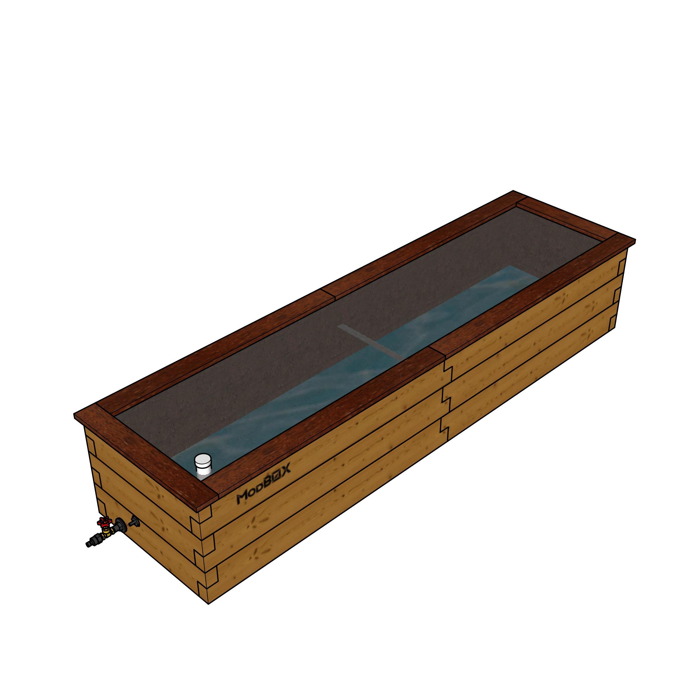 Benedetto 650mm X 2450mm Modbox Raised Garden Beds